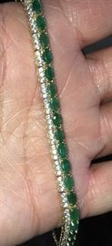 Emerald and Diamond bracelet purchased in Athens, Greece.