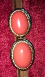 14K gold earrings with coral