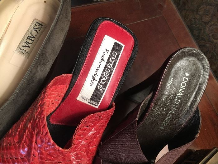 Escada and other designer shoes