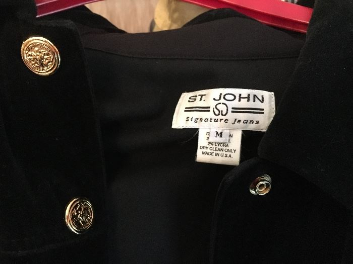 St. John clothing and jewelry
