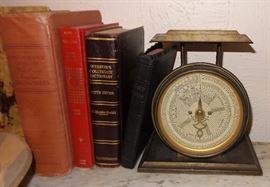 Vintage books.  Scales