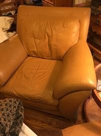 Leather chairs in excellent condition.