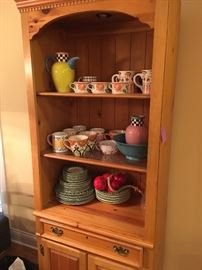 Tons of decorative accessories including everyday dishware.