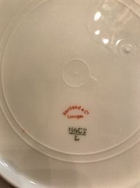 "Limoges ""Meadow Visitors"" plate"