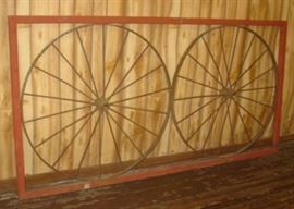 """8' 4"""" Steel Gate w/Iron Wheels"""