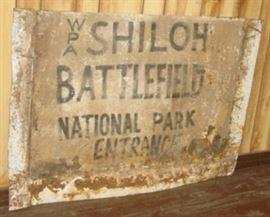 4' Metal Shiloh Park Sign