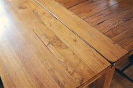 Detail of Broyhill Attic Heirlooms Rustic Oak Collection - Harvest Table