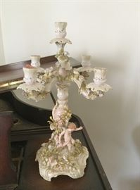 One of a pair of antique German candelabra