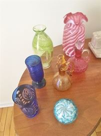 Some of the vintage glass throughout the house