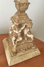 Detail of the cherub lamp base