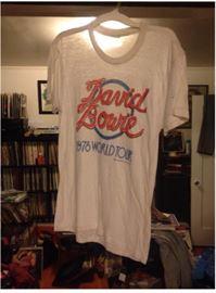 1978 David Bowie tour shirt