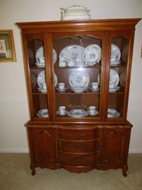 French Provencial china cabinet