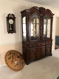 Beautiful Cherry Finish Display Cabinet.