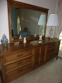 Mid century dresser, chest, night stands and bed by Thomasville