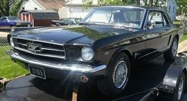 At 8PM: 1965 Ford Mustang with 289 Engine; Automatic Transmission. In Running Condition. Barn Find: Garaged since 1985.