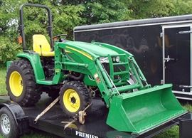 At 7PM: John Deere 3720 Tractor with 107.1 hours and 300CX Loader