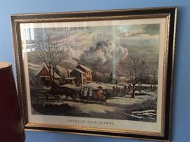 "N. Currier Lithograph, ""American Farm Scenes"", Dated 1853 (29'' x 23'')"