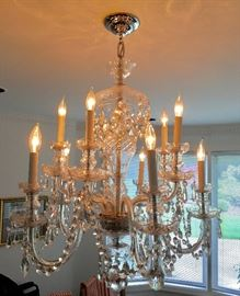 10 Candle Crystal Chandelier