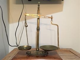 Vintage Brass Scale