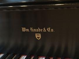 William Knabe & Co. Baby Grand Piano w/ Black Satin Finish
