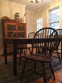 Dining Table and Windsor Chairs