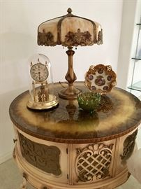 Antique Leaded Slag Glass Table lamp