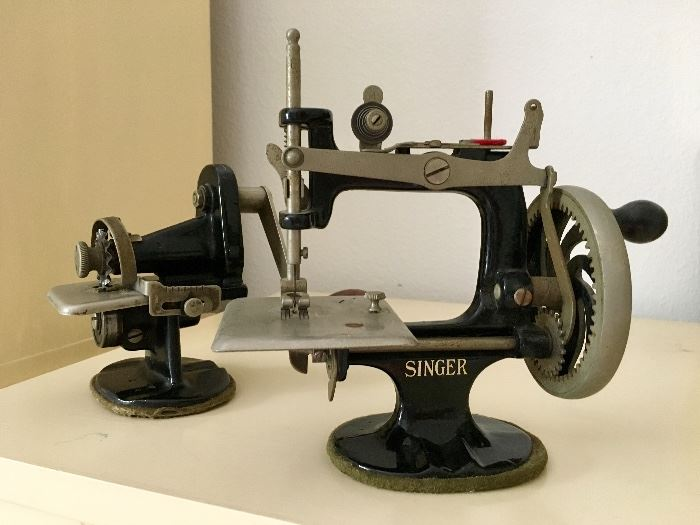 Antique Children's Singer Sewing and Pinking Machines, circa 1926
