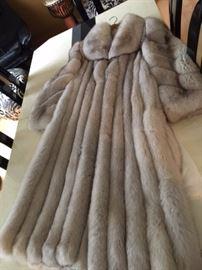 Full length fox coat