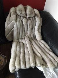 Full length fox fur from York Furrier in Elmhurst