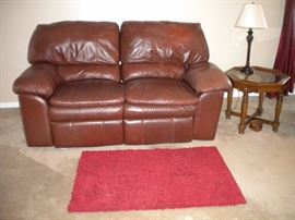 Faux 3 piece living room set Loveseat w/dual recliner and 2 matching rocking swivel chairs