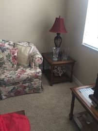 Set of matching end tables with matching coffee table