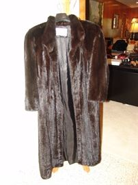 Full length mink coat, small size