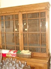 Country Pine bookcase cabinet