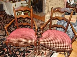 Pair English antique chairs