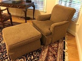 Comfortable chair and ottoman