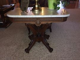 Antique marble top table