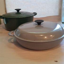 Le Crueset  5.5 Qt. Dutch Oven and 30 cm covered Braiser