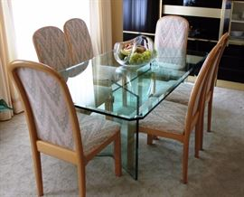 Beveled Glass table & Chairs