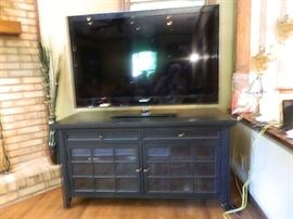 "Samsung 52"" TV, Great Looking TV Stand"