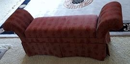 Upholstered bench w/ storage