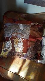 Gorgeous kimono pillow.