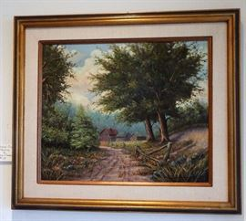 Original oil by William S. Dombroski