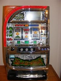 Slot Machine Japanese Made Recondition light display video screening display with graphics are made by Sega Jet Set Radio by Pachisio w/ LSC screen and tokens Start Price $300.00