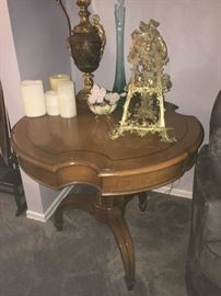 Several vintage occasional tables