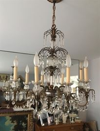 Gorgeous antique crystal lamp