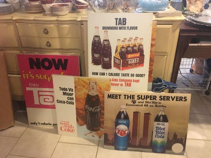 Vintage soda advertising posters