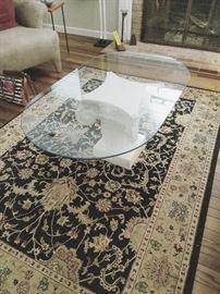 Glass top pedistal coffee table