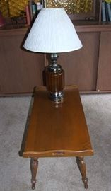 ASSORTED END TABLES AND LAMPS