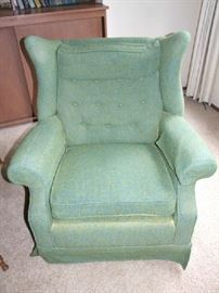 MCM SAGE GREEN SITTING CHAIR