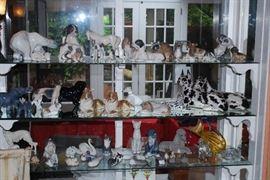 Very Nice Large Collection of Vintage Royal Copenhagen, Dahl Jensen & Royal Doulton Porcelain Animal Figurines.